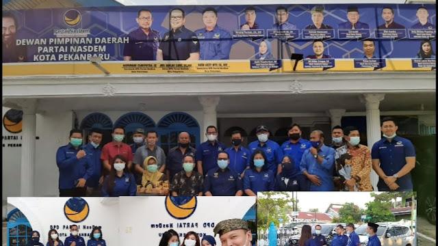 KPU Pekanbaru Sambangi Kantor DPD Partai NasDem Kota Pekanbaru, Ini Tujuannya