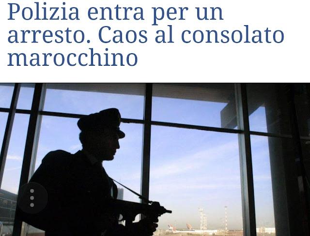 الشرطة الإيطالية تدخل  القنصلية المغربية ب طورينو لإعتقال رجل فر منهم إليها