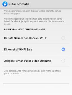 Cara nonaktif autoplay video facebook