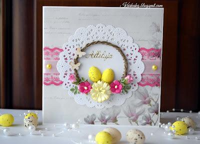 Ukwiecona Kartka Wielkanocna