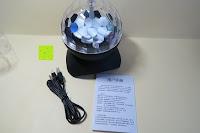 Lieferumfang: GHB Disco Light Lichteffekte Bühne DJ Beleuchtung Bluetooth Lautsprecher Mini-Kartensteckplatz rotierenden MP3 disco licht mit USB Anschluss