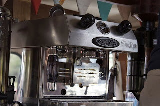 Espresso Machine in the Little Coffee Camper - the mobile coffee van in Essex