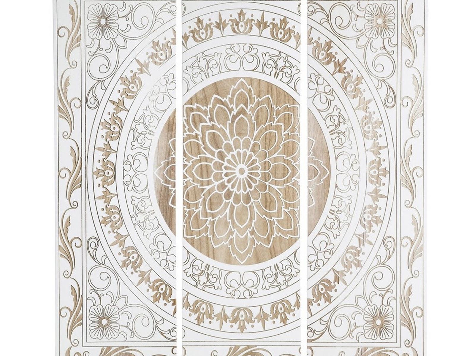 wood medallion wall decor