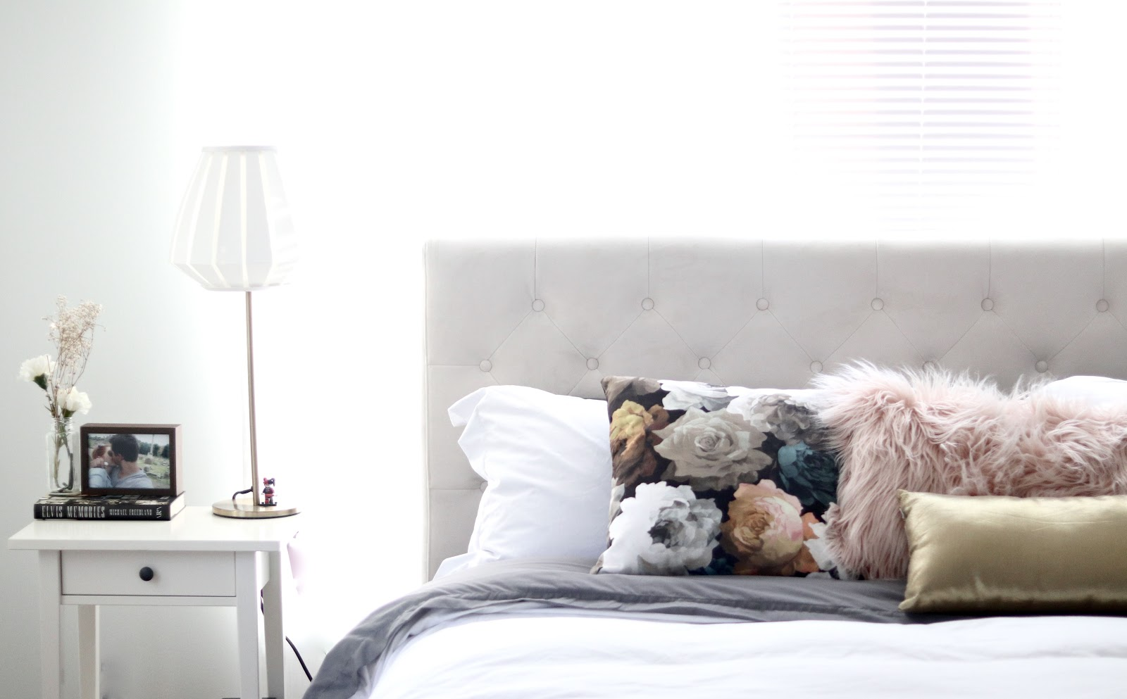 White bedroom with Benji sleep Toronto based company