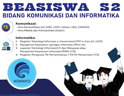 informasi beasiswa master S2 untuk umum dan PNS dari kementerian Komunikasi dan informatika tahun 2020