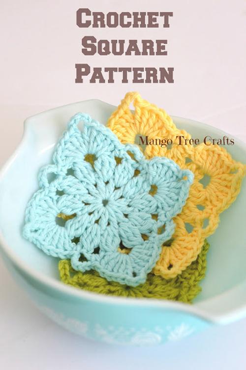 Crochet Square Pattern & Photo Tutorial