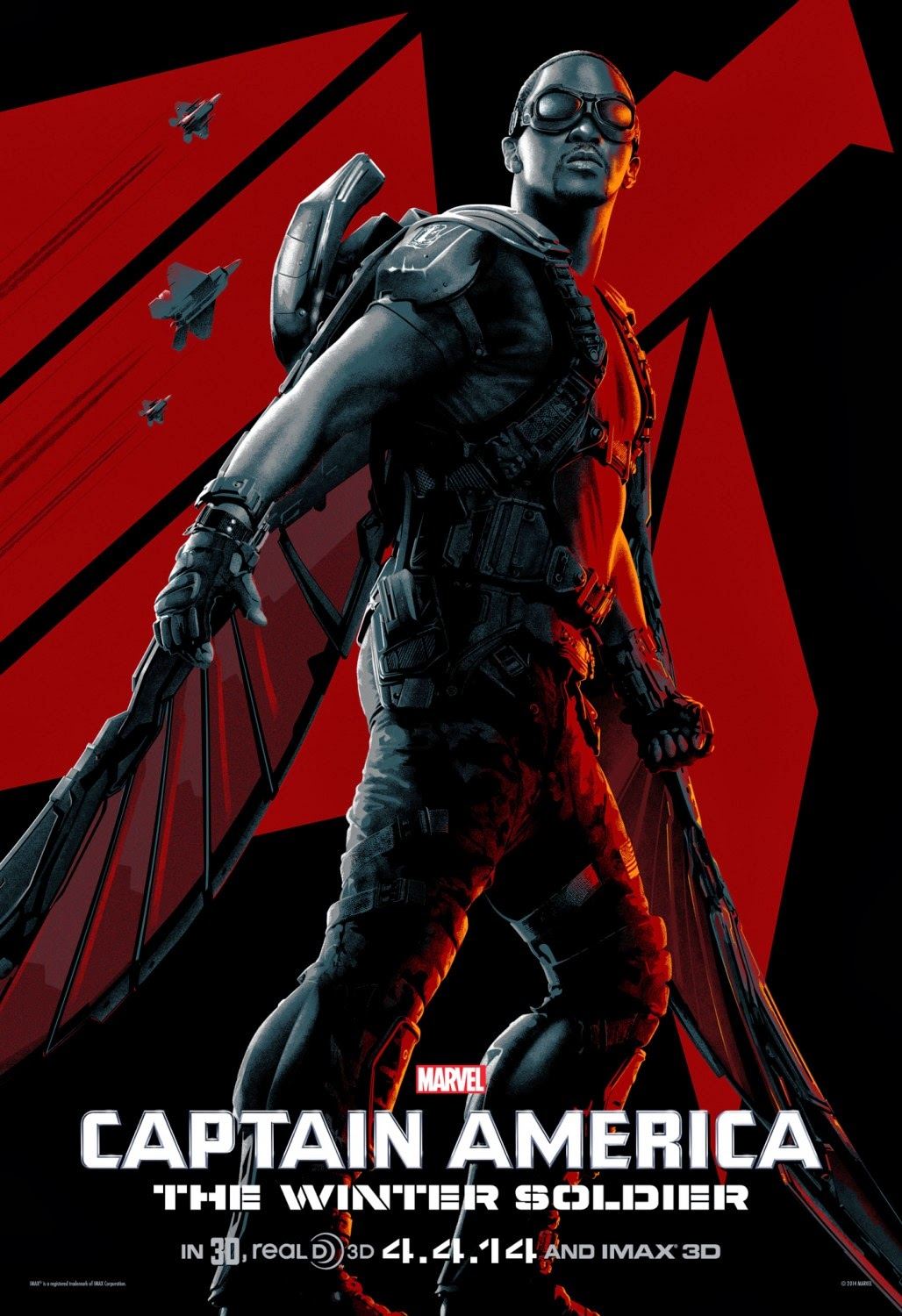 Captain America The Winter Soldier IMAX Character One Sheet Movie Poster Set - Anthony Mackie as The Falcon
