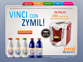 Logo '' Vinci con Zymil'' 200 macchine espresso Electrolux