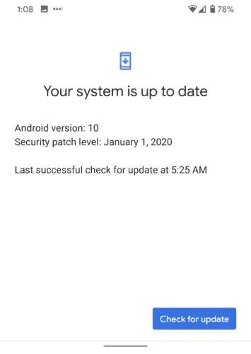 إعدادات Google Pixel OTA