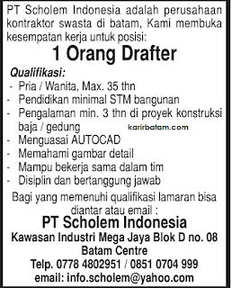 Lowongan Kerja PT. Scholem Indonesia