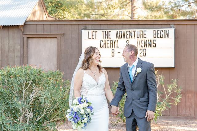 bride and groom at shenandoah mill in gilbert az