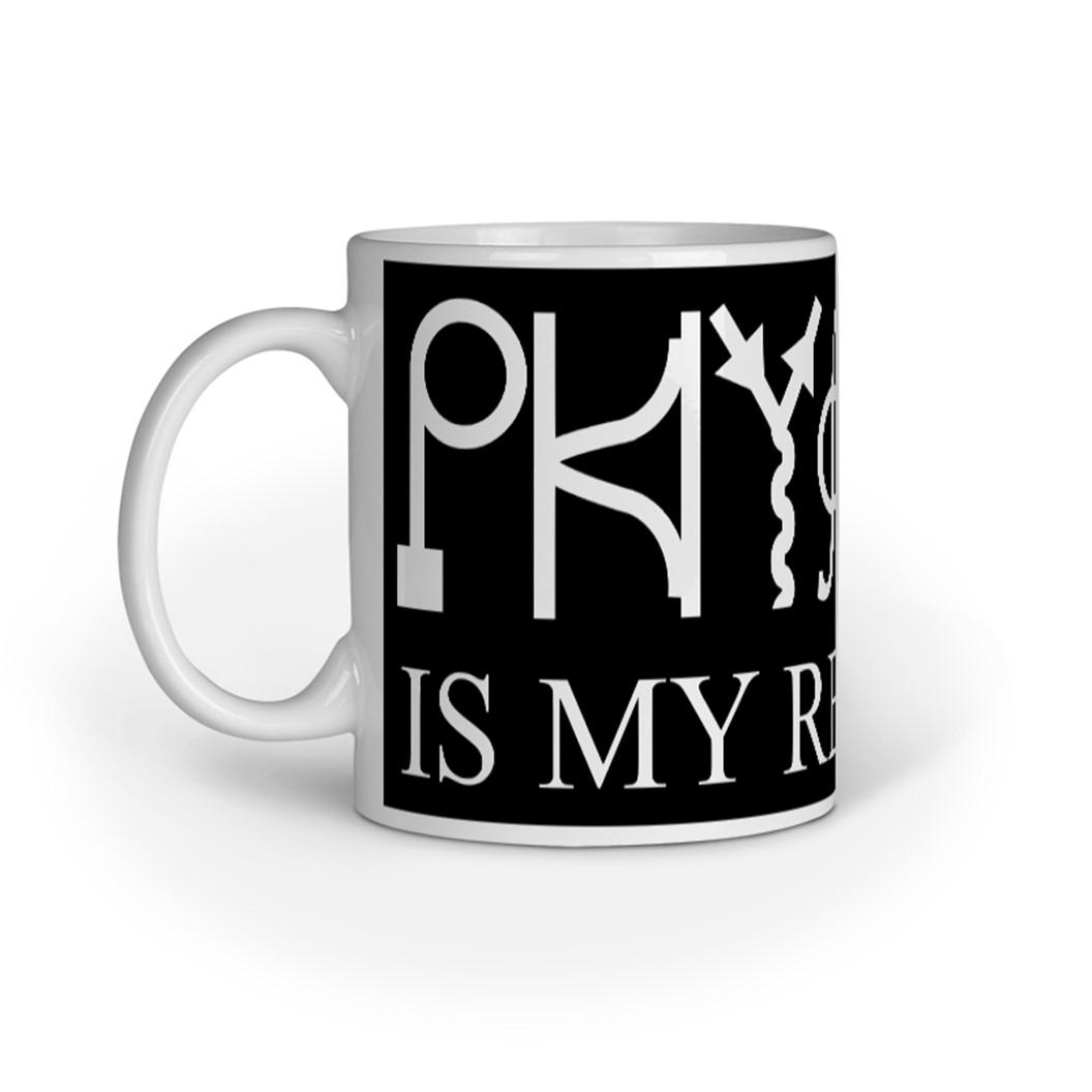 Physics my religion mug