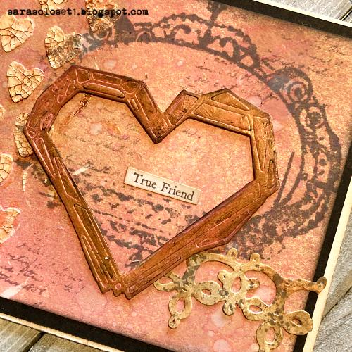 Sara Emily Barker https://sarascloset1.blogspot.com/ Tim Holtz Sizzix Geo Frames Crochet 2 Valentine Card Set Tutorial 8