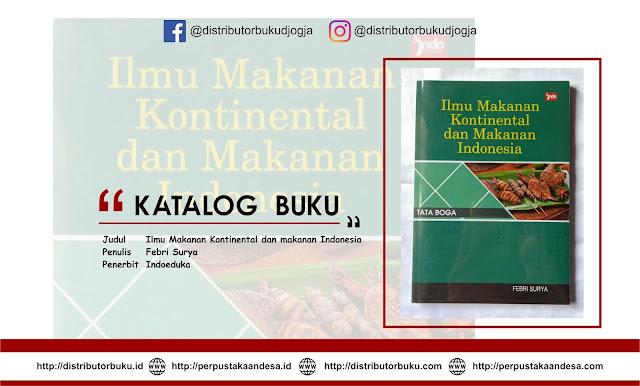 Ilmu Makanan Kontinental dan makanan Indonesia