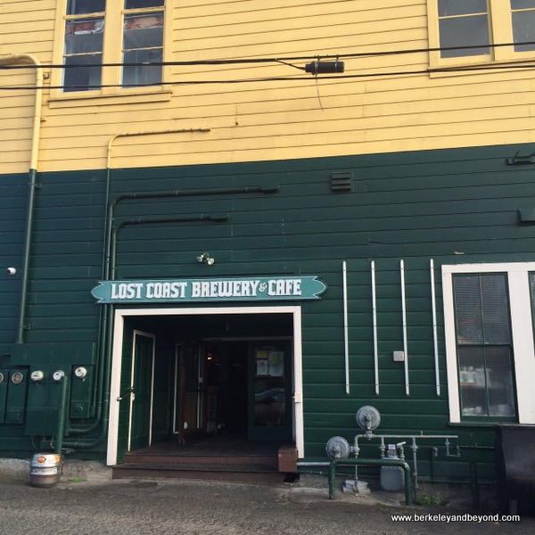 rear entrance to Lost Coast Brewery & Cafe in Eureka, California