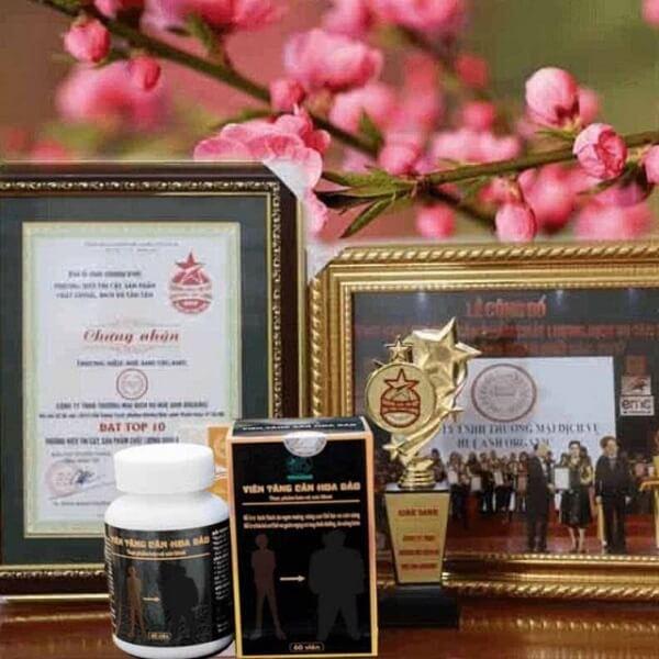 Viên tăng cân Hoa Bảo đạt giải thưởng sản phẩm số 1 năm 2018