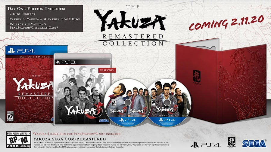 yakuza remastered collection day 1 edition collectible ps4 sega 2020
