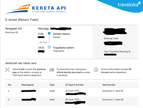 tiket kereta api traveloka