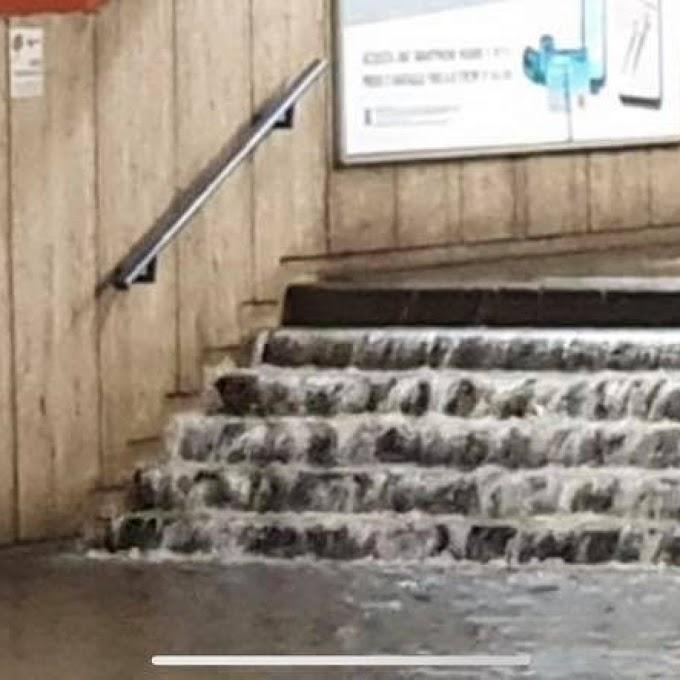Metro A: Il nubifragio a Colli Albani