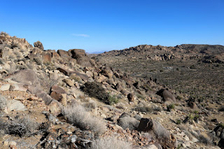 View east toward Desert Queen Mine from the flank of Negro Hill, Joshua Tree National Park