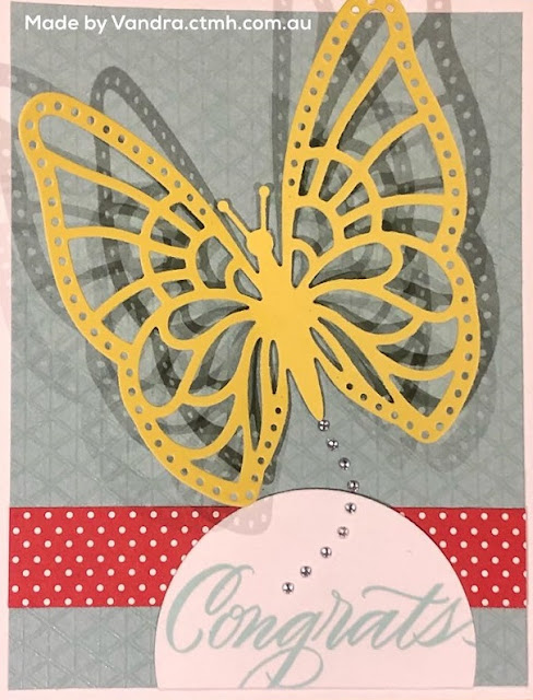 #CTMHVandra, Colour dare, color dare, Butterflies, Congratulations, cardmaking, 3D, Candy Apple, Glacier, lemonade, cardstock, thin cuts, butterfly, bling, Melisa Esplin,