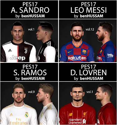 PES 2017 Facepack July 2019 by BenHussam Facemaker ~ PESNewupdate
