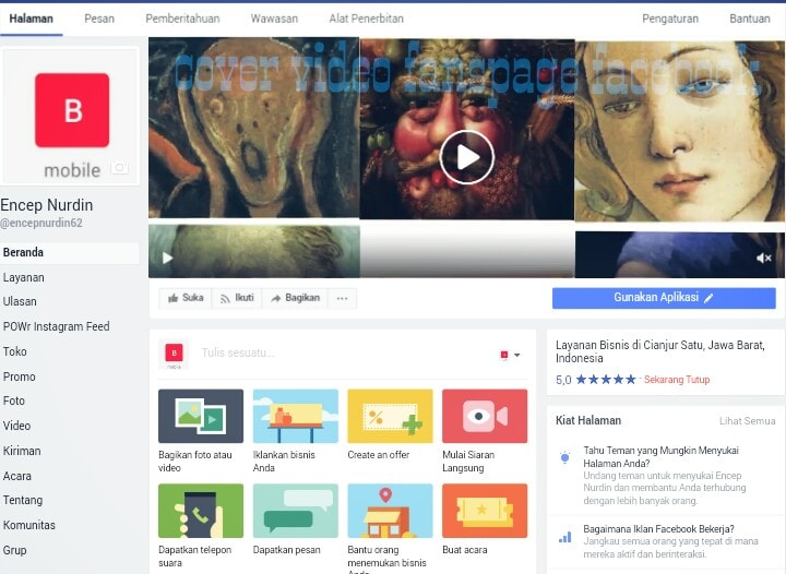 cara upload cover video facebook 2017