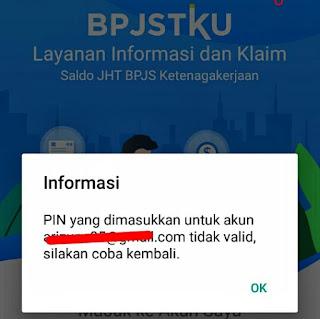 Mengganti PIN Akun Aplikasi BPJSTKU