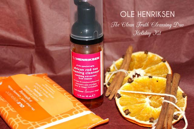 Отзыв: Набор для очищения кожи. Пена для умывания с африканским красным чаем и очищающие салфетки для удаления макияжа - Ole Henriksen The Clean Truth Cleansing Duo Holiday Kit.