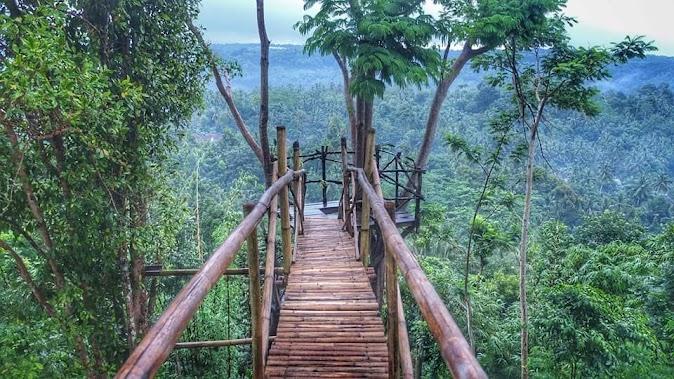 Jembatan di Green Gumuk Candi