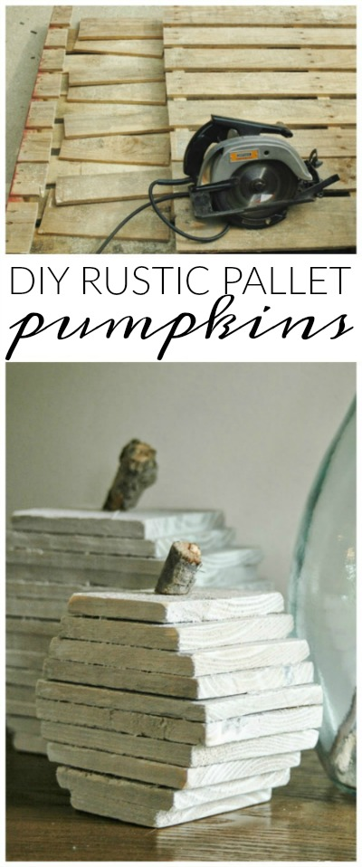 pallet projects for fall. diy rustic pumpkins from pallet wood. -littlehouseoffour.com projects for fall