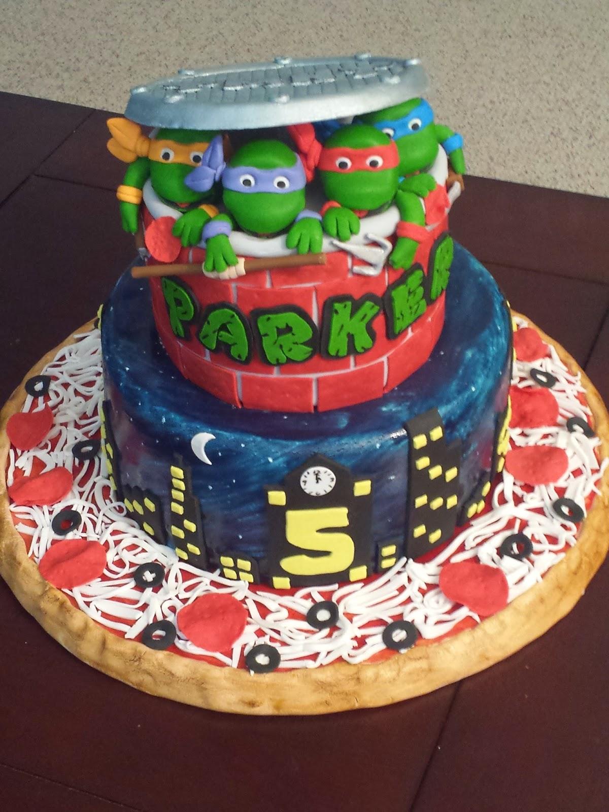 J S Cakes Teenage Mutant Ninja Turtles Birthday Cake