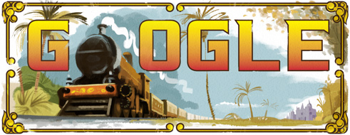 Google doodles 160th anniversary of India's first passenger train