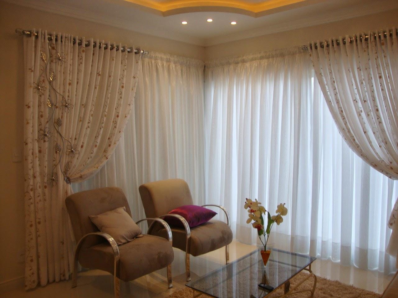 Cortinas para janelas de canto dicas e fotos dicas legais Fotos de cortinas