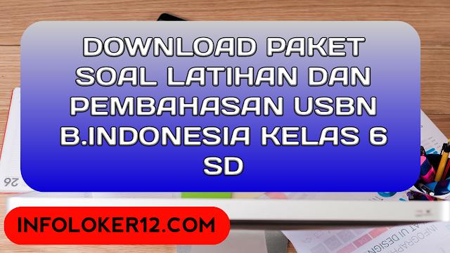 Download Paket Soal Latihan Dan Pembahasan USBN B.Indonesia Kelas 6 SD