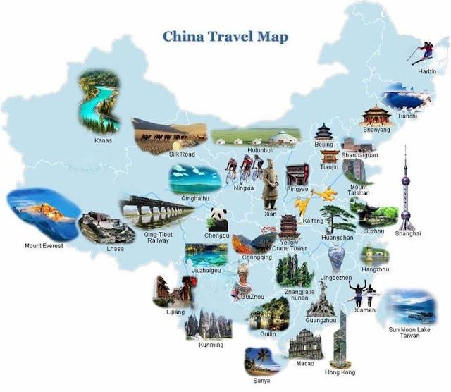 Китай туристическая карта