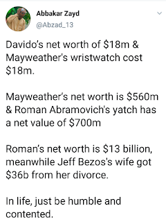 Davido's Entire Net Worth Of $18Million Is The Cost Of Floyd Mayweather's Wrist watch