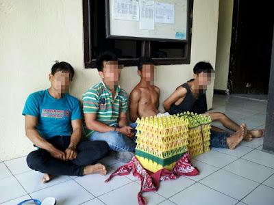 Curi 300 Telur, Tiga Warga Sukatani Kalianda dan Satu Warga Palas Ditangkap Polisi