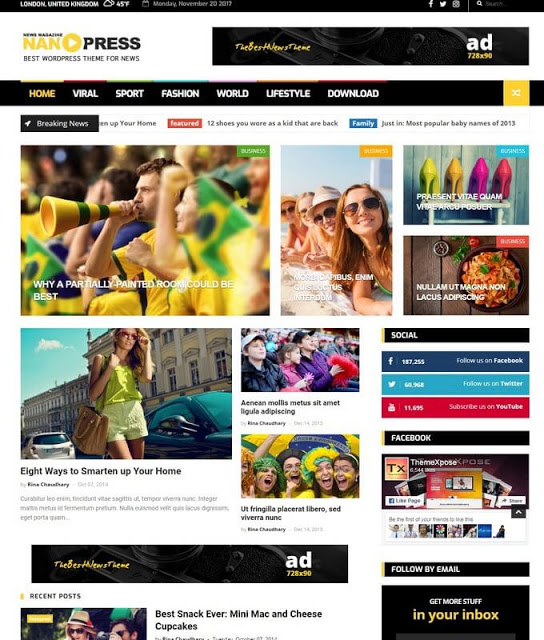 NanoPress Blogger Template Free Download