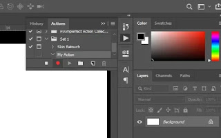 How to make action in Photoshop cc