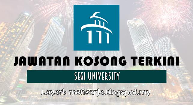 Jawatan Kosong Terkini 2016 di SEGi University