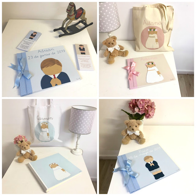 Primera Comunión -libros y álbumes de fotos personalizados de niño y de niña