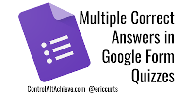 Multiple Correct Answers in Google Form Quizzes