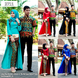 BAJU BATIK COUPLE MODEL SETELAN ROK KATNU PRADA DAN LONG BLUS BALOTELLY TERBARU T2711