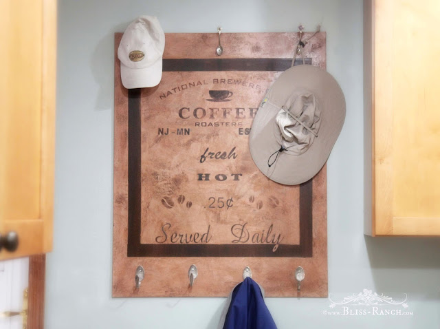 Coffee Sign, Bliss-Ranch.com Maison Blanche, Funky Junk Stencils