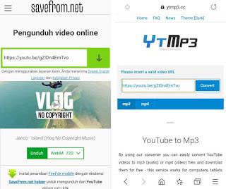 Cara Download file .mp4 dan .mp3 youtube