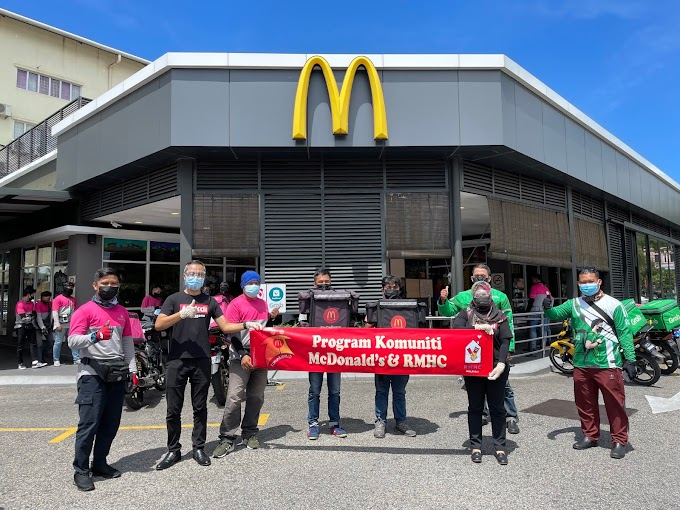 McDonald's Malaysia Rai 65,000 Penghantar Makanan Dengan Inisiatif #LekLuMcDBelanja