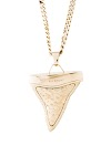 Gold-Tone Givenchy Shark Tooth Pendant Necklace with Lobster Clasp Closure