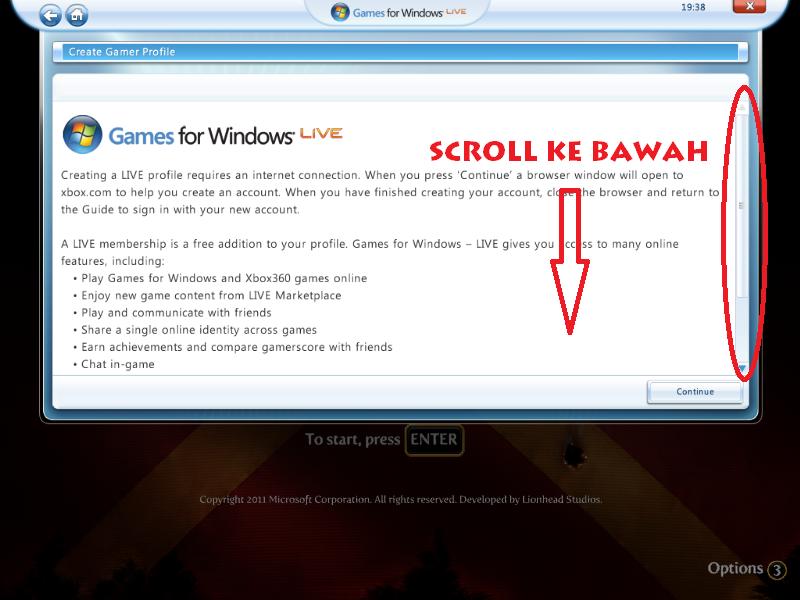 Cara Buat Account Offline Di Games For Windows Live