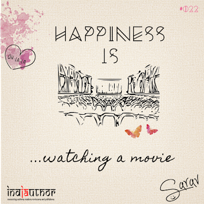Happiness is watching a movie!